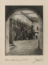 Original 1928 bromoil, Hollenburg by FRANZ ZAWADIL, signed & dated PICTORIALISM