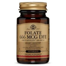 Solgar Folate 400 mcg - 50 Tablets FRESH, FREE SHIPPING, MADE IN USA