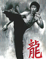 BRUCE LEE 8 X 10 PHOTO ART WITH ULTRA PRO TOPLOADER