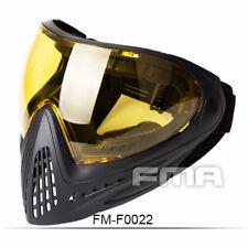 FMA Tactical Anti-fog Goggle Paintball Full Face Mask F0022 Single Layer Mirror