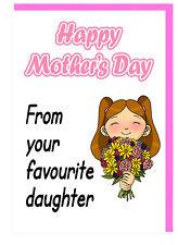 Mamá - Stepmum - Día de la Madre Tarjeta - de Tu Favorito Daughter