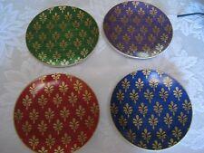 Pier 1 Imports Festive Design Porcelain Appetizer Plates Set of (4)