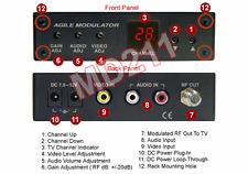 Premium Composite RCA Video Audio To UHF VHF CATV RF Modulator - NSTC