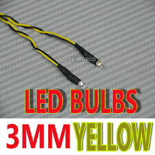 RC LED BULBS Pair On One Line 3mm YELLOW