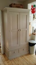 Kitchen Larder Cupboard 2 Door 1 Drawer Hand Painted Oak & Tulip Wood