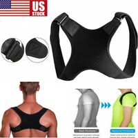 Back Posture Corrector Shoulder Straight Support Brace Belt Therapy Men Women US