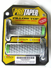 Pro Taper Pillow Top Grey / Green Twist Throttle Grips KX KLX KXF NEW