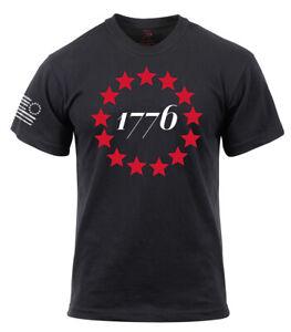 America Patriotic Shirt 1776 Betsy Ross Flag Black T-shirt Rothco 10831