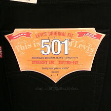 Levis 501 Jeans New BLACK Size 34 x 30 Mens Original Button Fly #756