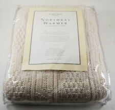 """NORDSTROM AT HOME NORTHBAY WARMER 100% COTTON AFGHAN THROW - UNUSED! 50"""" x 60"""""""