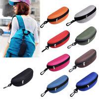 Zipper Hard Eye Glass Case Box Sunglass Protect Travel Fashion with Belt Clip
