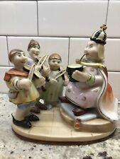 Rare Vintage Ucagco Japan Old King Cole Nursery Rhyme Porcelain Figurine Fiddler