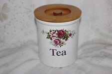 T G GREEN  CLOVERLEAF STORAGE JAR TEA,  10.5 x 12 cm
