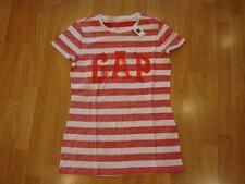 NWT Women Gap Striped arch logo T RED M