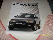 GAMME dépliant CITROEN 1992 AX série spéciale EXCLUSIVE essence 1400cm3 7cv