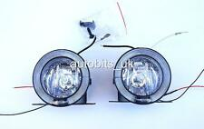 UNIVERSAL ROUND ANGEL EYE LED DRL FOG SPOT DAY LIGHTS 75mm NEW FOR HONDA HYUNDAI