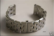 24mm Solid Heavy Brushed Stainless Steel Butterfly Buckle Watch Band,Bracelet