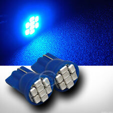 2pc Blue T10 Wedge 8x 1206 SMD LED Car Door/Trunk/Running Light Lamp Bulb Pair