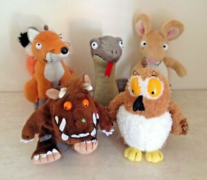 "Gruffalo Soft Toy bundle, 5 Small 6"" Plush Toys, Julia Donaldson Aurora"