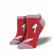 "SOCKSMITH  Womens' Ped Socks ""FOR FOX SAKE"" - Terracotta Red - NEW"