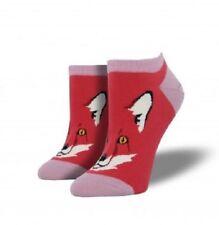 """SOCKSMITH  Womens' Ped Socks """"FOR FOX SAKE"""" - Terracotta Red - NEW"""