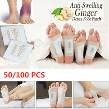 50/100 Pcs Slimming Ginger Herbal Detox Foot Patches Improve Sleeping  Pads