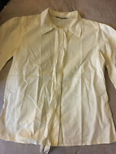 PRADA WHITE TIE NECK EMBROIDERY BLOUSE SHIRT TOP DRESS MIU 44 6 8 M S BOW MARC