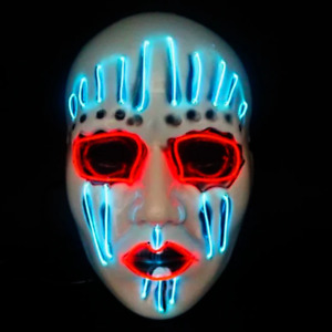 Grim Reaper LED Mask Light up Mask Cosplay Scary Fancy Dress Glow in The Dark
