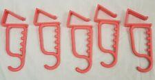 Set of 5 Over Door Coat Hooks or Flower Pot Hangers/ Towel hanger,
