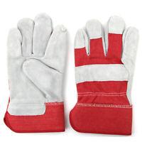 Welding Leather Gloves Gauntlets Welders Heat Resistant Stitches Safety Workwear