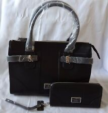 AUTHENTIC NEW NWT GUESS ABIU CARRYALL TOTE BAG PURSE WITH MATCHING WALLET