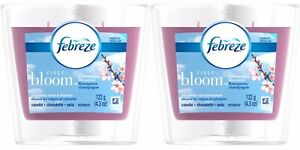 2X Febreze First Bloom Champagne Blossoms Double Wick Candles; 4.3 Oz, Retired
