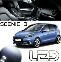 SCENIC 3 Pack 9 ampoules LED Blanc Habitacle Plafonnier Eclairage Sol pieds