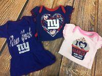 9c2f1f53 New York Giants NFL Baby Heart Fan 3-Pack Bodysuit Set Size 0-3 ...