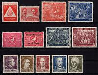 SBZ Allgemeine Ausgaben Jahrgang 1949 Nr.228-241 postfrisch ** MNH ohne Block 6