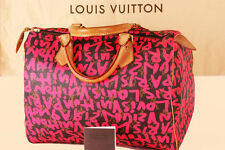 LOUIS VUITTON Speedy GRAFFITI  FUCHSIA PINK NeonTasche SPROUSE Monogram HAND-BAG