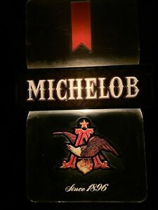 """Vintage Michelob Electric Light Beer Sign """"Since 1896"""" Brew Bar Wall Display"""