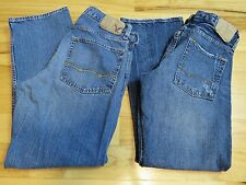 Lot of 2 AMERICAN EAGLE Jeans Relaxed Straight Low Rise Boot Men's 31 Inseam 30