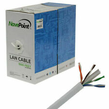 NavePoint CAT6 1000FT Solid 23AWG UTP Cable - White