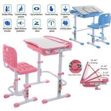 Adjustable Children's Desk Chair Set Child Study Desk Kids Study Table Gifts A