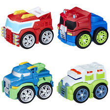 Transformers Rescue Bots Flip Racers SET OF 4 (Heatwave, Optimus, Hoist, Medix)