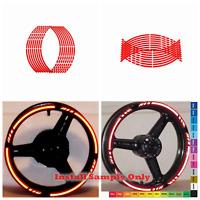 "Red Motorcycle Reflective Rim Stripe Tape sticker 17"" wheel Honda Suzuki Yamaha"