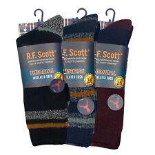 R.F. Scott Men's Thermal Insulated Socks, Men's Size 8-12 NEW