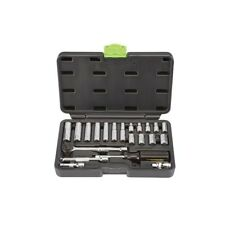 """21 Piece SAE Socket Set, 1/4"""" Drive, with case  Free US Shipping!"""