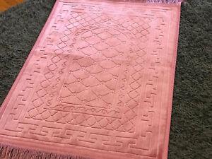 Pink Prayer Mat Non Slip Islamic Janamaz Musallah