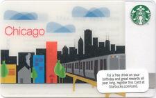 2011  RARE  Starbucks CHICAGO EL TRAIN   Destination City Card