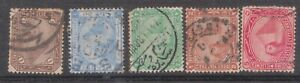 (F17-49) 1870 Egypt mix of 5stamps 1pi to 5pi (AX)