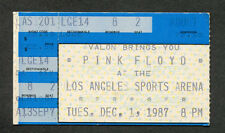1987 Pink Floyd concert ticket stub Los Angeles CA Momentary Lapse of Reason