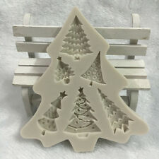 Christmas Tree Silicone Fondant Mold Cake Decor Chocolate Sugarcraft Baking Mold