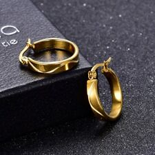 Unique Women Gold Filled Stainless Steel Small Circle Hoop Earrings Jewellery